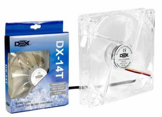 Cooler Dex Led Branco Transp Dx-14t 140mm