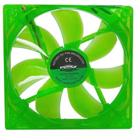 Cooler Dex Led Verde Transp Dx-12l 120mm