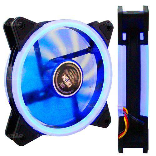 Cooler Dupla Face P Gabinete 120mm com Led Azul - Dx-12d
