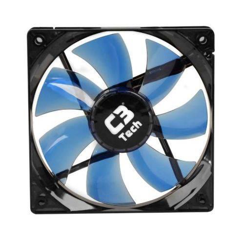 Cooler Fan 120mm C3tech F7-l100bl com Led Azul Silencioso