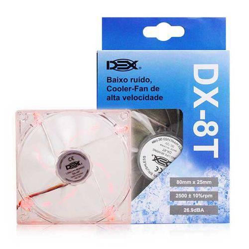 Cooler Fan 8 por 8 Transparente Colorido Vermelho - 8t