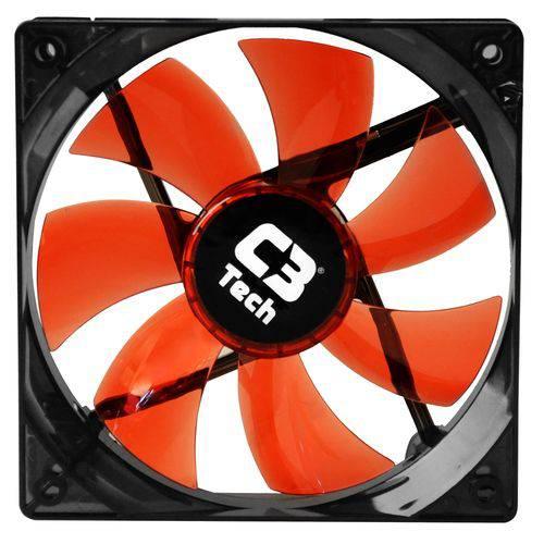 Cooler Fan F7-L100 Vermelho Storm 12cm com LED C3T