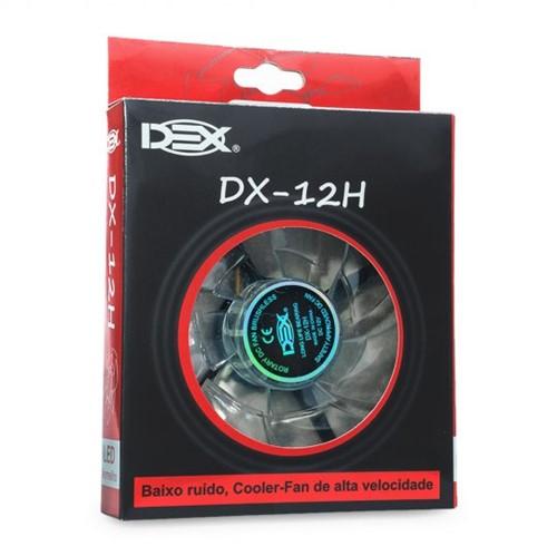 Cooler Fan Led Extra Forte 120mm Dx-12h Vermelho