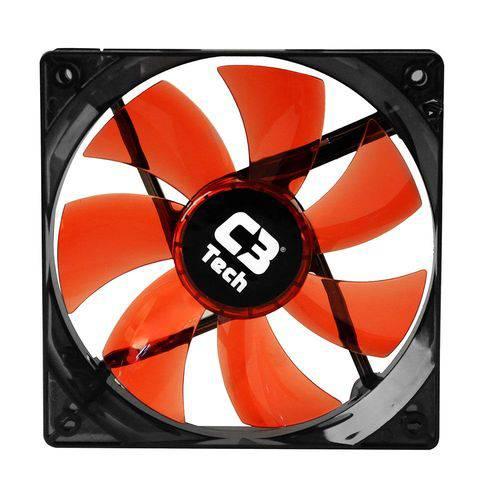 Cooler para Gabinete C3 Tech F9-100 Bk Storm 3 Pinos 12x12x2,5 Cm Led Preto