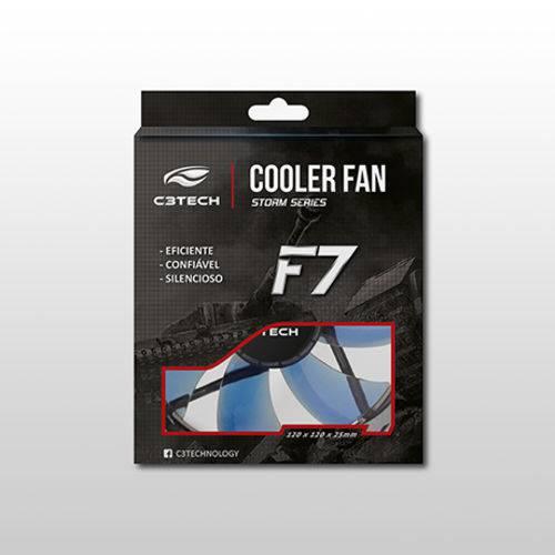 Cooler para Gabinete C3tech F7-L100 Bl 120 X 120 X 25 Mm Led Azul
