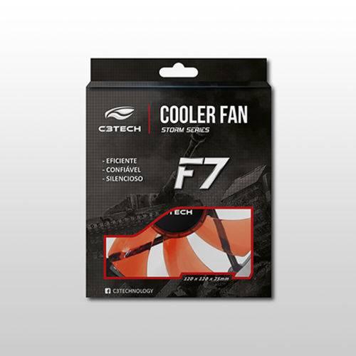 Cooler para Gabinete C3tech F7-L100 Rd 120 X 120 X 25 Mm Led Vermelho