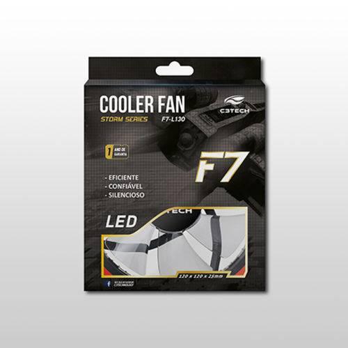 Cooler para Gabinete C3tech F7-L130rd 120 X 120 X 25 Mm Led Vermelho