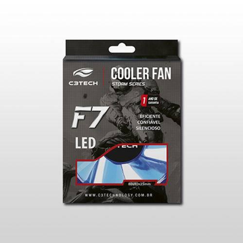 Cooler para Gabinete C3tech F7-L50bl 80 X 80 X 25 Mm Led Azul