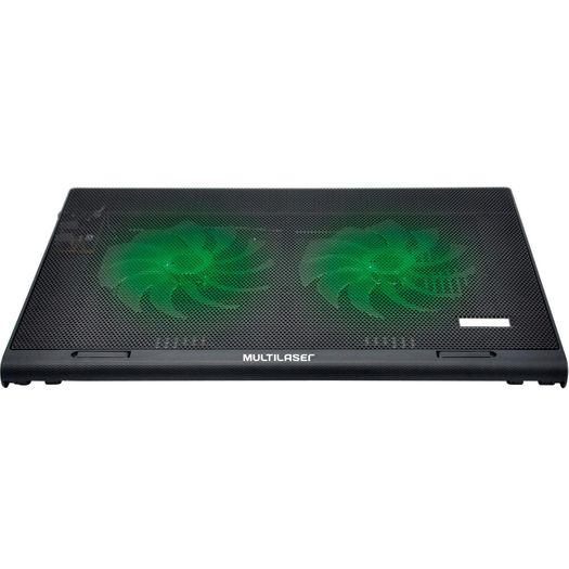 Cooler para Notebook Warrior Power Gamer Ac267 Led Verde - Multilaser