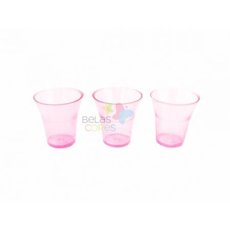 Copinho Cálice Rosa Transparente 15 Ml - 50 Unidades