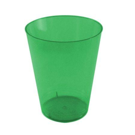 Copo Acrílico Verde Escuro 200ml Copo Acrílico Descartável Verde Escuro 200ml - 10 Unidades