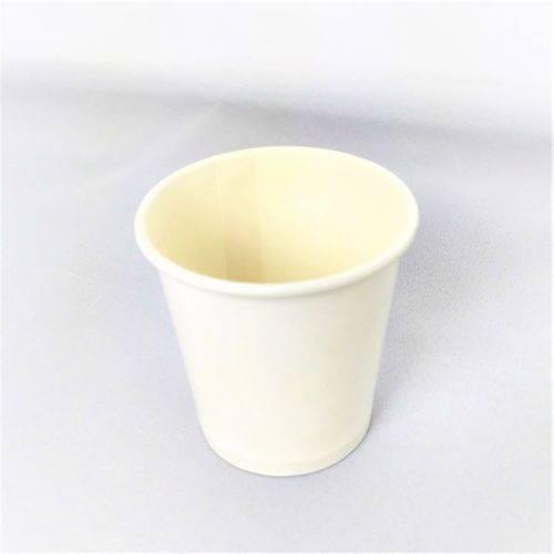 Copo de Papel Biodegradável Branco Liso Térmico 240 Ml S/Tampa 100 Un