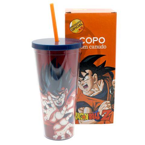Copo Canudo C/textura Goku