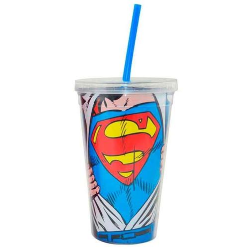 Copo Canudo Dc Comics Super Homem