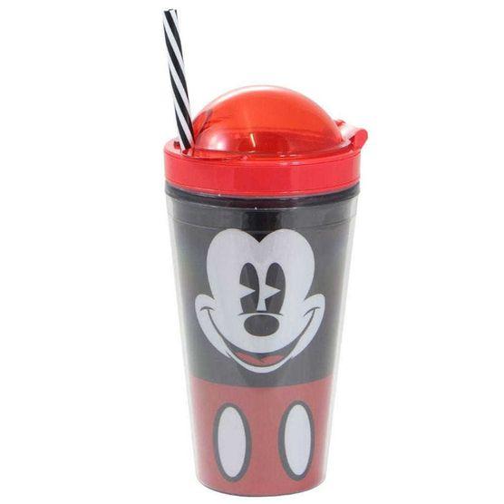 Copo Canudo 2 em 1 Mickey Faces 500 Ml Copo Canudo 500ml 2 em 1 Mickey Faces