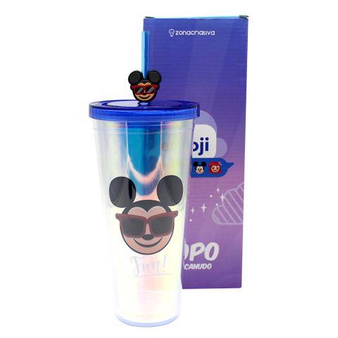 Copo Canudo Holográfico Mickey