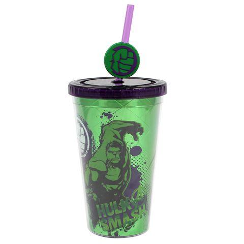 Copo Canudo Hulk