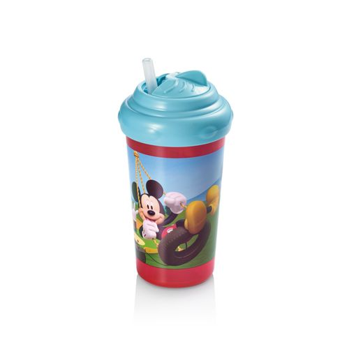 Copo com Canudo de Silicone 300ml Mickey Multikids Baby - BB082