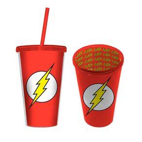 Copo com Canudo The Flash DC Comics