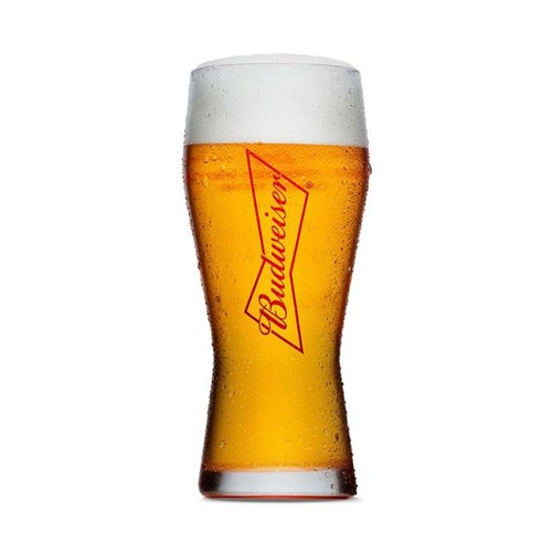 Copo de Cerveja Budweiser Gravata 400ml Globimport Vidro