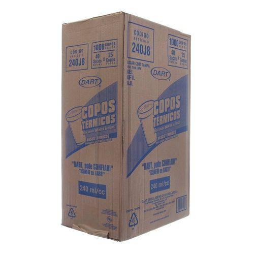 Copo de Isopor Capacidade de 240ml Caixa com 1000 Unidades Dart