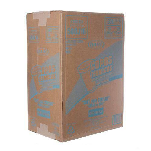 Copo de Isopor Capacidade de 500ml Caixa com 500 Unidades Dart