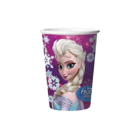 Copo de Papel Descartável Frozen - 08 Unidades - 330 Ml