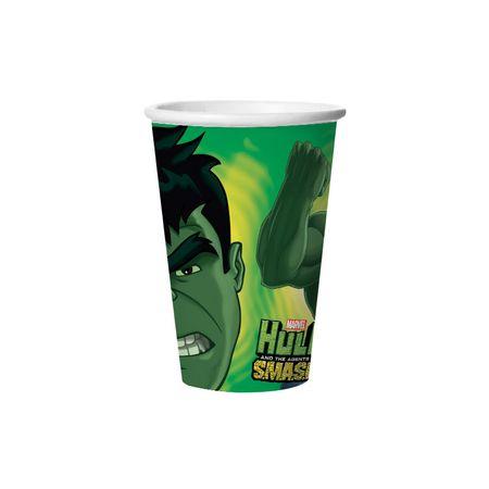 Copo de Papel Descartável Hulk - 08 Unidades