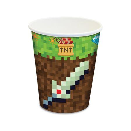 Copo de Papel Descartável Minecraft