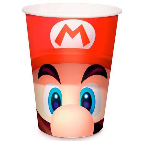 Copo de Papel Descartável Super Mario
