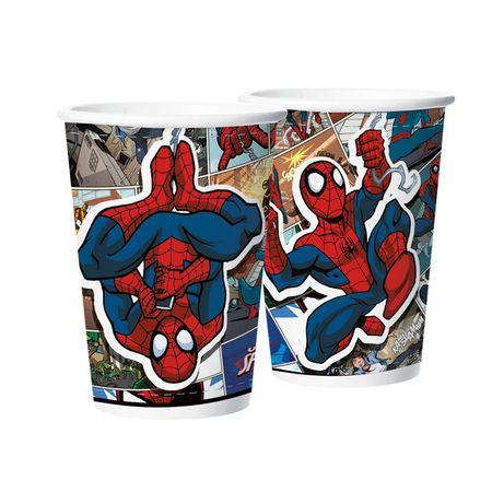 Copo de Papel Homem Aranha Quadrinhos Copo de Papel Descartável Homem Aranha Quadrinhos - 08 Unidades