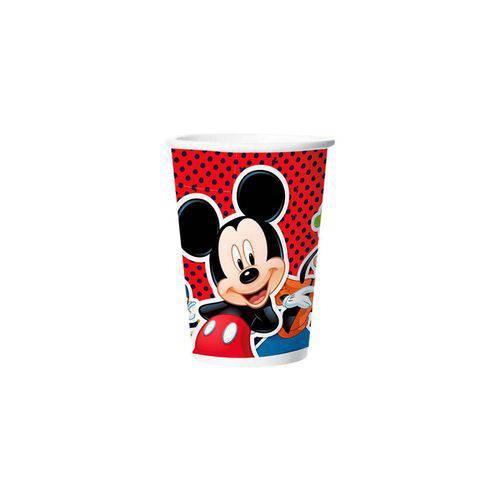 Copo de Papel Mickey Clássico 180ml C/8 Unidades