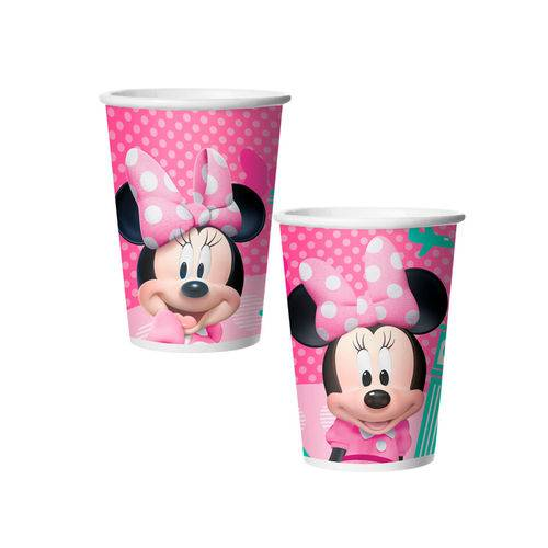Copo de Papel Minnie Rosa 330ml C/8 Unidades