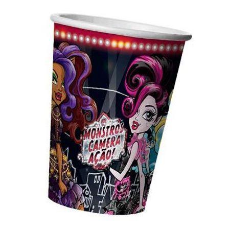 Copo de Papel Monster High Câmera e Ação Copo de Papel Descartável Monster High Câmera e Ação - 08 Unidades
