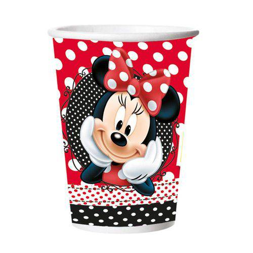 Copo de Papel Red Minnie 330ml C/8 Unidades