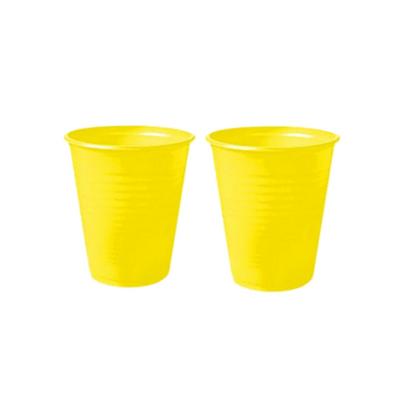 Copo de Plástico Descartável Amarelo 200ml Pacote C/ 50un Trik Trik