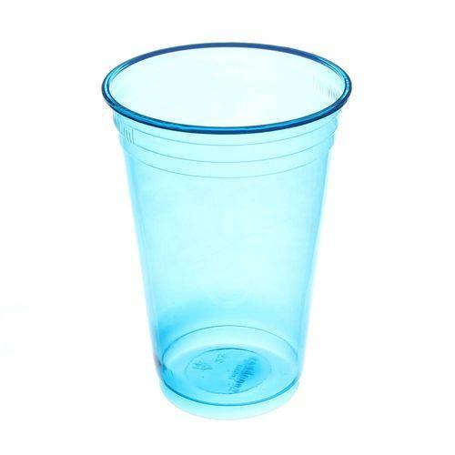 Copo de Plástico Descartável Balada Azul de 300ml Pacote com 25 Unidades Copobras