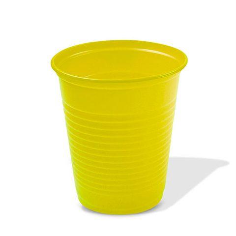 Copo Descartável Amarelo 200ml C/50 - Trik Trik