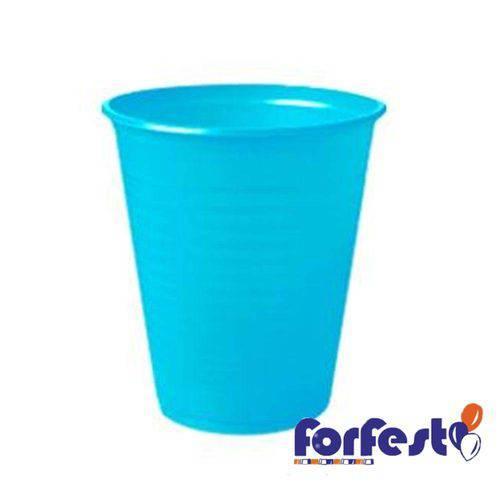Copo Descartável Colorido 200ml Azul Claro com 50 – Forfest