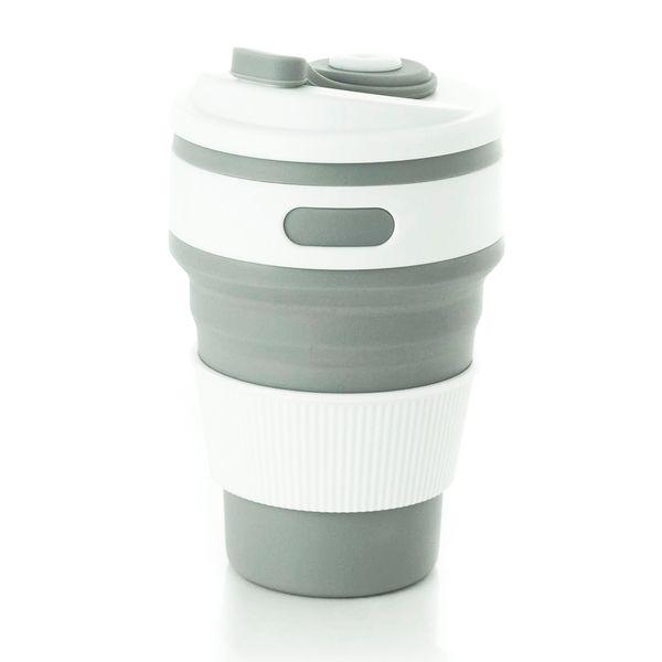 Copo Eco-friendly Retrátil Bento Go Cinza 350ML - 32853