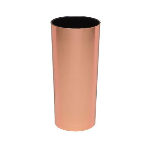 KIT 100 Copos Long Drink Metalizado Cobre com Interior Preto