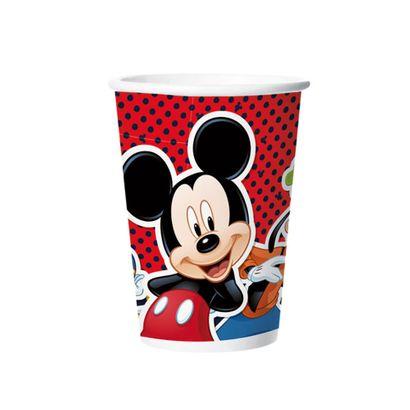 Copo Mickey Mouse 180ml em Papel 8un Disney Regina