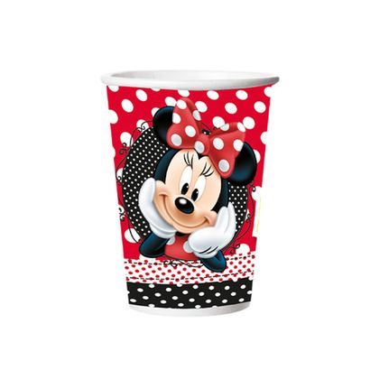 Copo Minnie Mouse 180ml em Papel 8un Disney Regina
