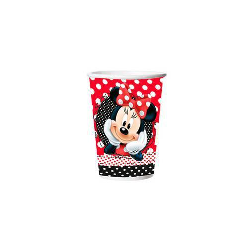 Copo Papel 330ml Minnie 8un