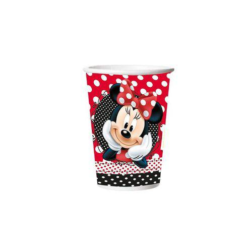 Copo Papel 330ml Red Minnie 8 Unidades