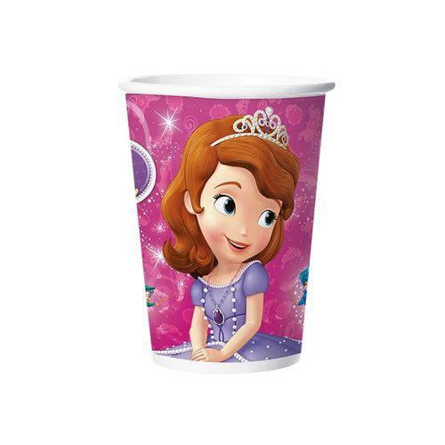 Copo Papel 180ml Princesa Sofia 8 Unidades