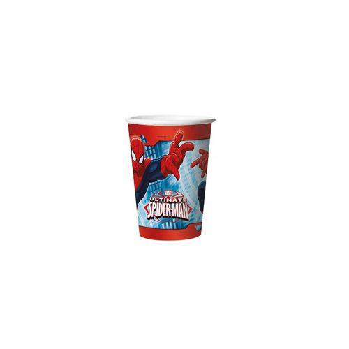 Copo Papel Ultimate Spider Man 330ml - 08 Unidades