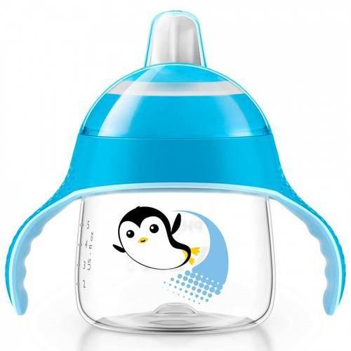 Copo Pinguim 200 Ml Azul Treinamento - Avent