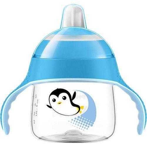 Copo Pinguim 200ml +6m Azul Philips Avent