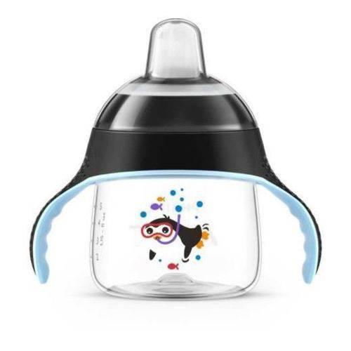Copo Pinguim 200ml Preto - Philips Avent - Copo de Treinamento - BPA Free - Avent